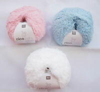 RICO BABY TEDDY ARAN YARN WOOL Very Soft 50G BALL Various Colours