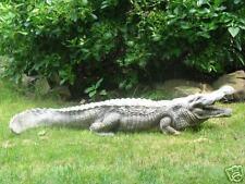 4 FT Outdoor Fiberglass ALLIGATOR garden animal statue
