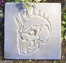 MOLD skull w horns stepping stone mold more skull molds in my ebay store
