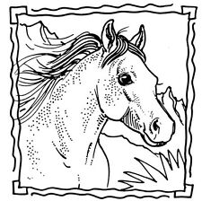 Unmounted Rubber Stamps, Equine, Equestrian, Animals, Horses, Scenic Horse Frame
