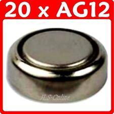 20 Alcalino Pila de botón 1.5vv Baterías AG12 386 LR43