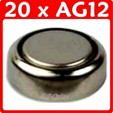 20 Alkaline Button Cell 1.5V Batteries AG12 386 LR43