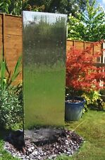 Free Standing Wall Water Feature Fountain Cascade Contemporary Steel Garden