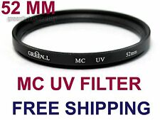 52 mm MC UV Camera Lens Multi-coated Ultra Violet  Filter for Canon SONY Nikon