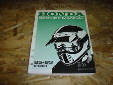 1985-1993 HONDA CR80R SHOP SERVICE MANUAL
