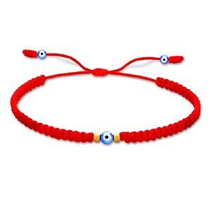 Red String Evil Eye Bracelet, Gold-filled, Waterproof, Mal De Ojo, Hilo Rojo