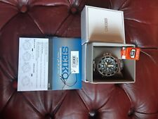 seiko skz211j1 mens watch with box, tags and booklets etc and in used condition.
