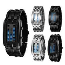 Men's Women's Binary Watches Luminous Sport Date Digital LED Couples Wrist Watch