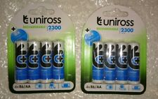 Uniross AA 2300 mAh 8 x Rechargeable Batteries NiMH - HR6, LR6, DC1500, MN1500