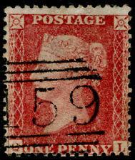 SG40, 1d rose-red PLATE 63, LC14, FINE USED. Cat £50. QL