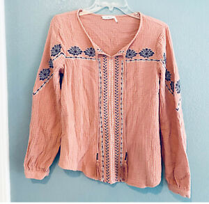 Blu Pepper Womens Long Sleeve Pajama Shirt
