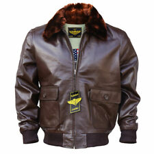 WWII Navy G1 Flight Bomber Genuine Leather Jacket With Warm Quilted Lining