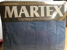 New listing Vintage Martex Queen Fitted Sheet Slate / Blue
