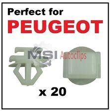 20 x PEUGEOT PLASTIC DOOR SIDE MOULDING BUMPER GRILLE TRIM CLIPS