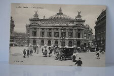 CPA 3075 PARIS 75 LA PLACE DE L'OPÉRA 9 éme  date  6/08/1912 voiture tricycle