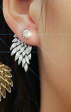 #1180 Women Angel Wings Rhinestone Inlaid Alloy Ear Studs Party Jewelry Earring