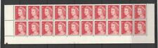 1966 Australia QE II 4c red block 20 plate no. 28 lower MUH