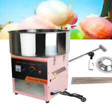 Electric Cotton Candy Machine Floss Maker Commercial Carnival Party Popular Pink
