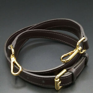 "3/4"" Dark Brown Adjustable Crossbody Shoulder Strap For Louis Vuitton Damier"