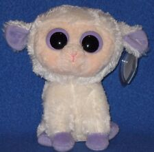 "TY BEANIE BOOS - CLOVER the 6"" LAMB - MINT with MINT TAGS"