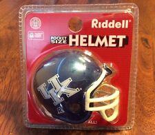 Riddell Pocket Size Football Helmet University Of Kentucky! UK! New In Package!