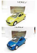 Lot de 2 Peugeot 207 3 Portes (Jaune, Bleu) 1/64 NOREV Neuf !!