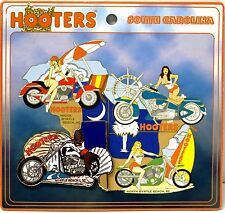 HOOTERS RESTAURANT GIRL MYRTLE BEACH I SC WHITE MOTORCYCLE PUZZLE LAPEL PIN