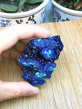 163g NATURAL Deep Blue Copper Quartz Crystal Mineral Specimen
