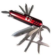 Taschenmesser Schweiz ROT - 14 Funktionen Messer Jagdmesser Klappmesser