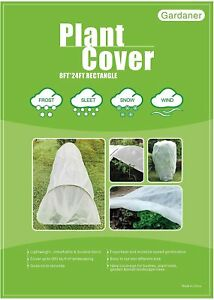 Gardaner Plant Covers Freeze Protection 0.9oz 8Ft x 24Ft Rectangle Plant Cover