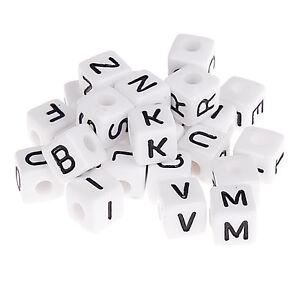 580x geprägte Kunststoffbuchstaben , Buchstabenwürfel , Buchstaben , 10x10mm