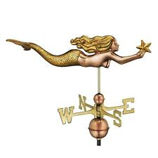 Mermaid With Starfish Weathervane Pure Copper Gold Leaf Gazebo Cottage Roof Top