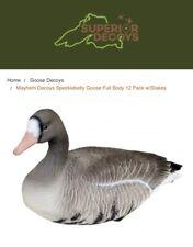 Mayhem Decoys Specklebelly Goose Full Body 12 Pack w/Stakes Heavy Hauler New