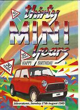 Mini 30th Birthday 30 Years Silverstone Market Leaflet Brochure Depliant 1989