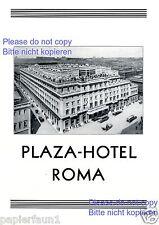 Plaza Hotel Rom XL Reklame von 1929 Roma Rome Werbung ad pubblicità +