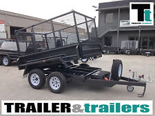 8x5 Cage Tipper Trailer with Ramps - New Wheels & Tyres - *NEW TYRES*