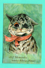 BY LOUIS WAIN CAT VINTAGE POSTCARD 315