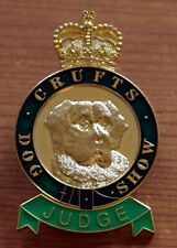 More details for crufts dog show judges badge. lovely condition. british skin foundation