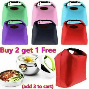 Small Portable Thermal Insulated Cool Bags Lunch Food Carry Bag Picnic Lunch box