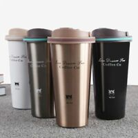 Vacuum Thermos Mug 500mL Stainless Steel Travel Coffee Tea Water Cup With Lid