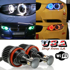 H8 RGB CREE Angel Eyes Halo Ring Marker LED Bulbs For BMW E90 E92 E60 E70 E71