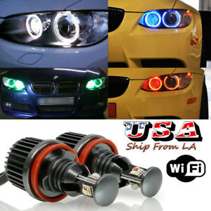 H8 RGB CREE Angel Eyes Halo Ring Marker LED Bulbs For BMW E90 E92 E60 E70 E71