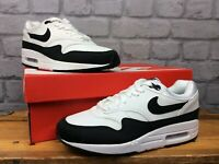 NIKE LADIES UK 5 EU 38.5 AIR MAX 1 WHITE BLACK MESH SUEDE TRAINERS RRP £100
