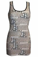 Ladies Unique Vintage Keyboard Buttons All Over Print  Long Vest Tank Top Dress