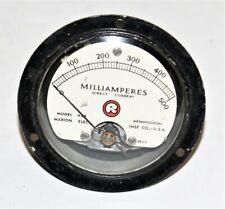 MARION HS3 500 MILLIAMPERES D.C. METER