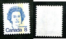 MNH Canada 8c SINGLE BAR TAG QEII Stamp #593var (Lot #7433)