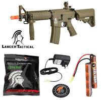 Lancer Tactical Airsoft M4 MK18 400 FPS Automatic Electric AEG Rifle Tan Gen 2