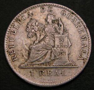 GUATEMALA 1 Real 1900 - Silver - VF - 446