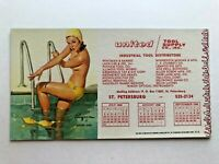 Vintage 1966 Pin Up Girl Blotter by Elvgren - Cover Girl - Blond in Pool
