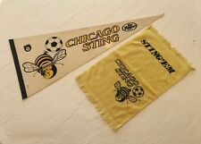 Lot of 1970's Chicago Sting NASL Defunct Soccer Pennant & Hand Towel